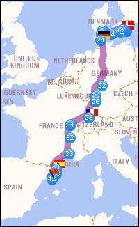 Karta Sverige Frankrike.Bila Till Spanien I Sommar