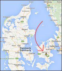 Karta Sodra Danmark.Barnsemester Testar Bonbon Land