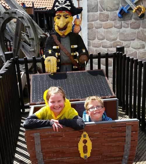 Testfamilj på Legoland
