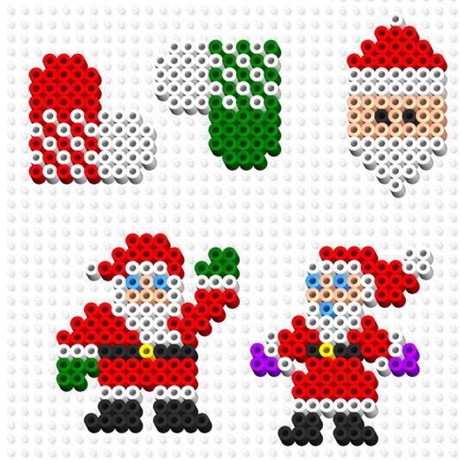 Pärlplattor mallar gratis jul