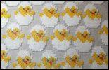 Pärlpplattor med påsktema  Kycklingar 047517c59f715
